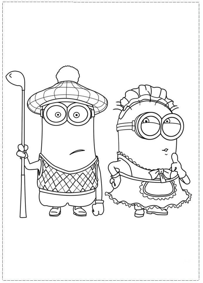 Despicable Me Coloring Pages Free Printable Sheets