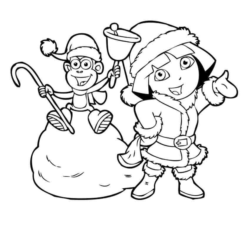 Download Dora Winter Boots Coloring Page Or Print