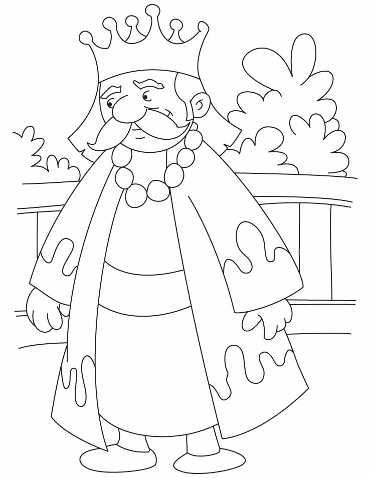 King Coloring Page - AZ Coloring Pages