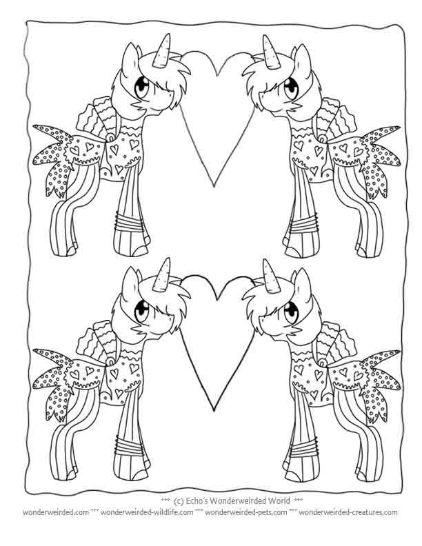 Unicorn Coloring Pages for Kids Echo's Free Unicorn Coloring Pictures