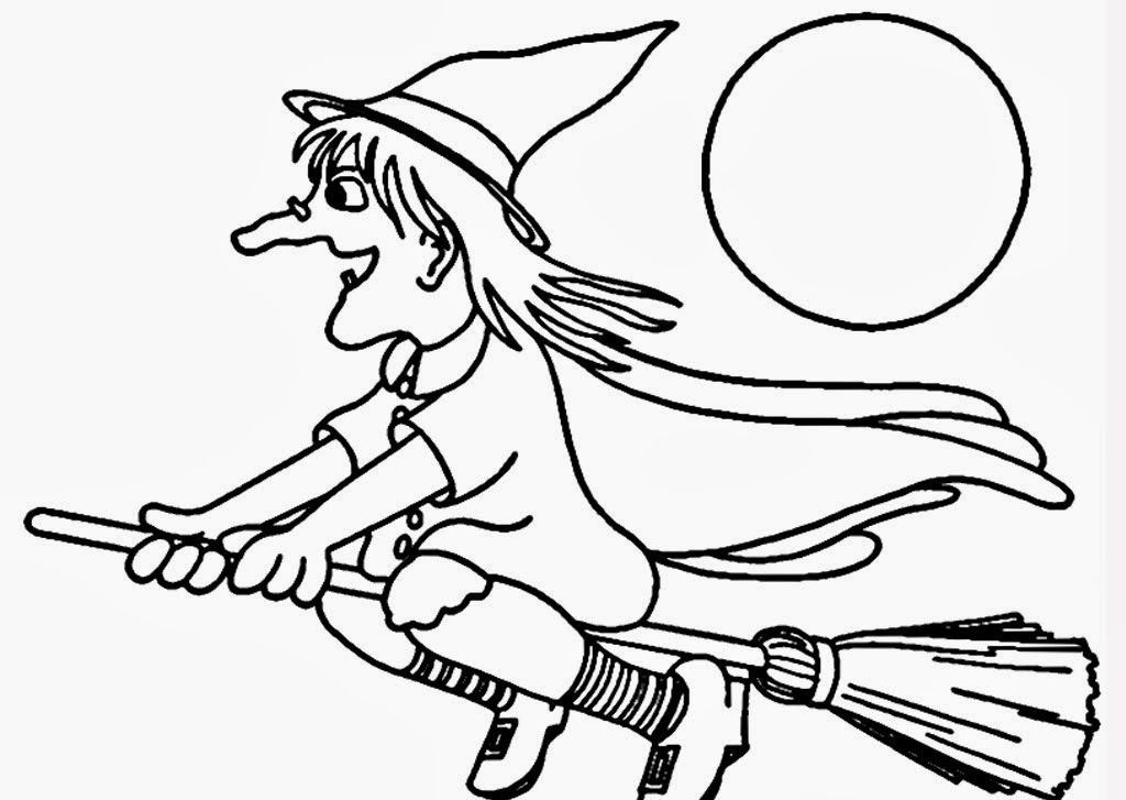 Witches For Kids Coloring Home