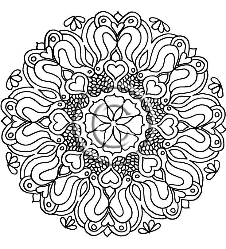 mehndi designs coloring book pages - photo#27