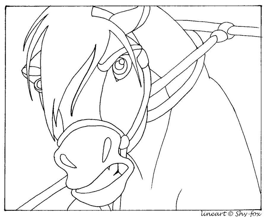 Spirit Horse Lineart By Capella336 On DeviantART Coloring Home