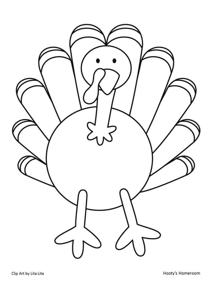 Blank turkey template az coloring pages for Blank turkey template