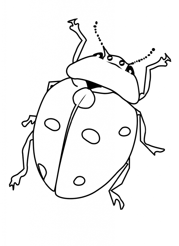 Bugs coloring pages for kids coloring home for Free bug coloring pages