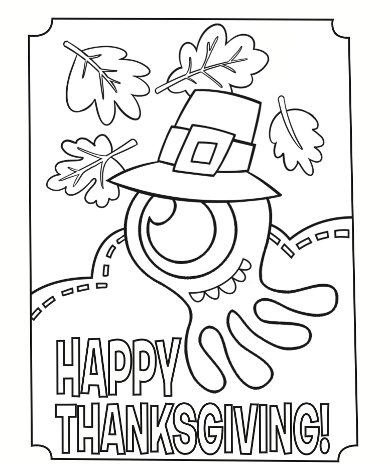 thanksgiving coloring pages already colored - happy thanksgiving coloring page coloring home