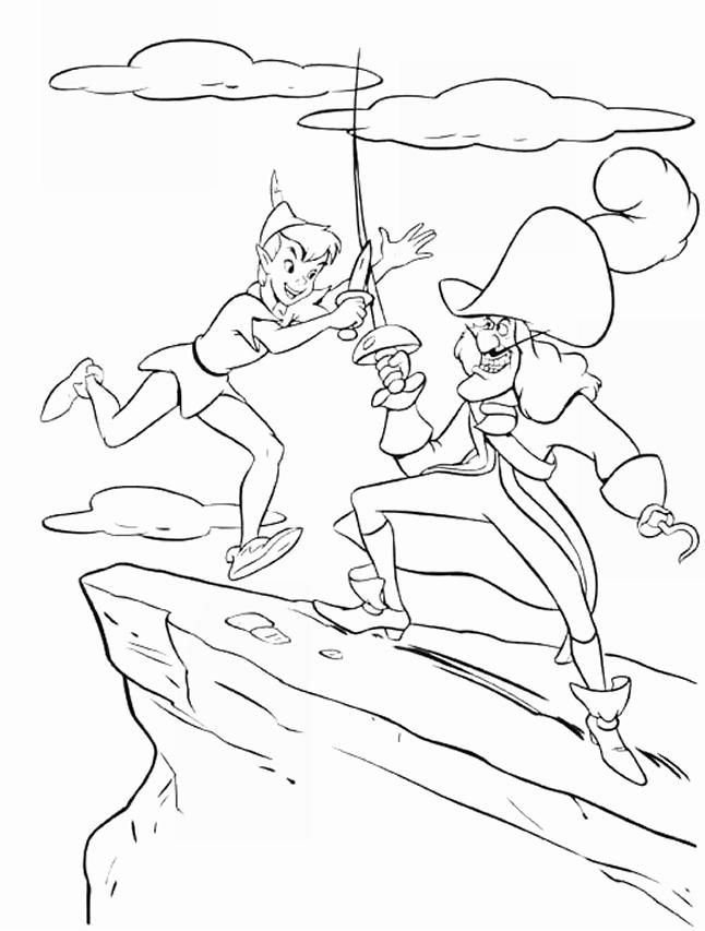 peter pan show Colouring Pages