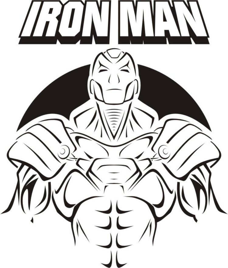 Ironman Coloring Pages Pdf : Iron man logo colouring pages coloring home