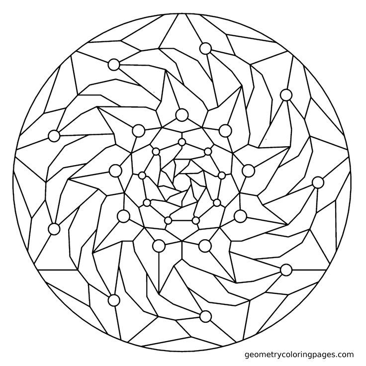 fractal coloring pages for kids - photo#18