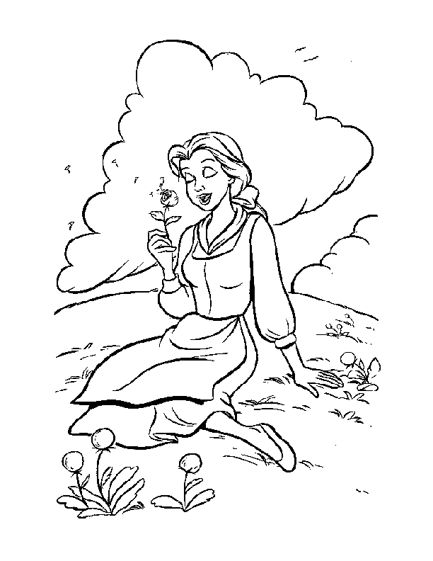 belle and the beast Colouring Pages (page 3)