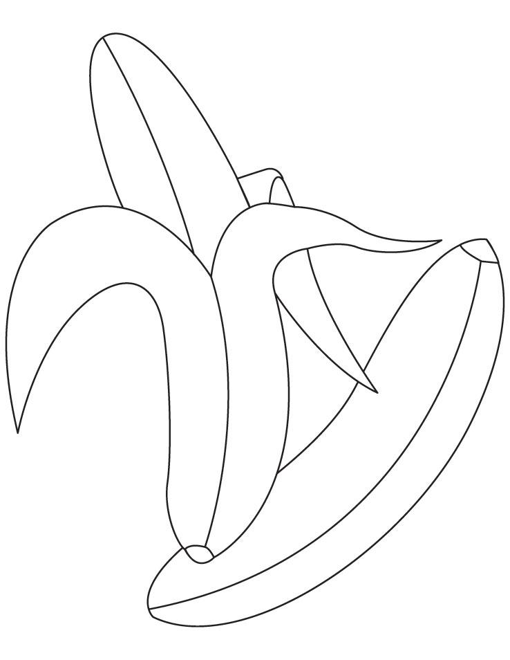 banana coloring pages - photo#26