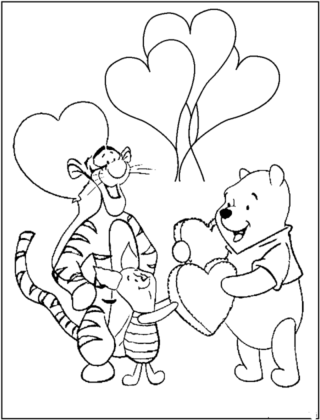 Happy birthday winnie the pooh coloring pages ~ Winnie The Pooh Pictures Free Download - Coloring Home