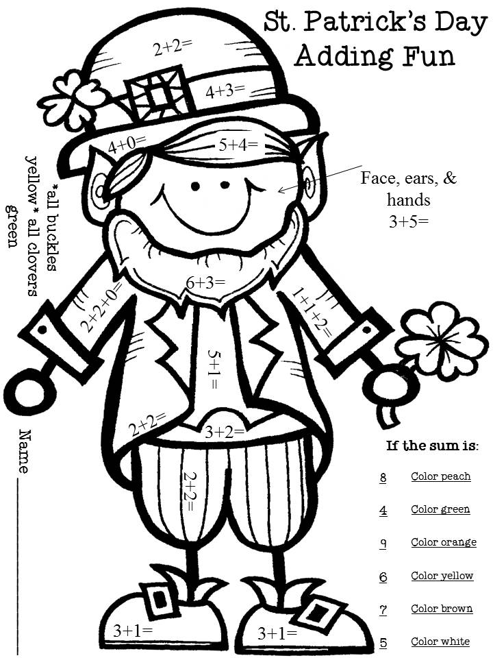 Saint Patrick's Day coloring page sheet for children | 960x720