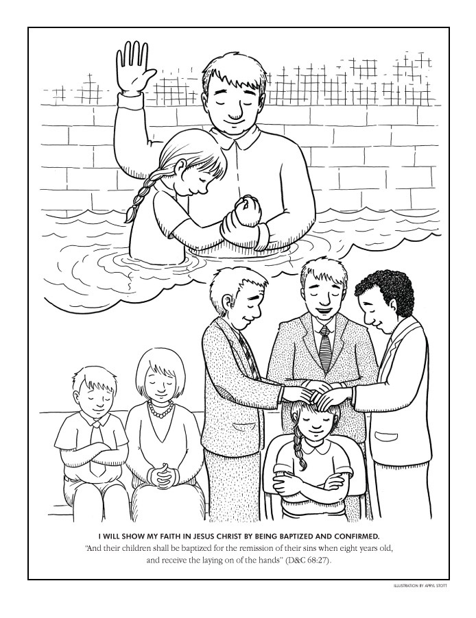 childrens coloring pages baptism - photo#15