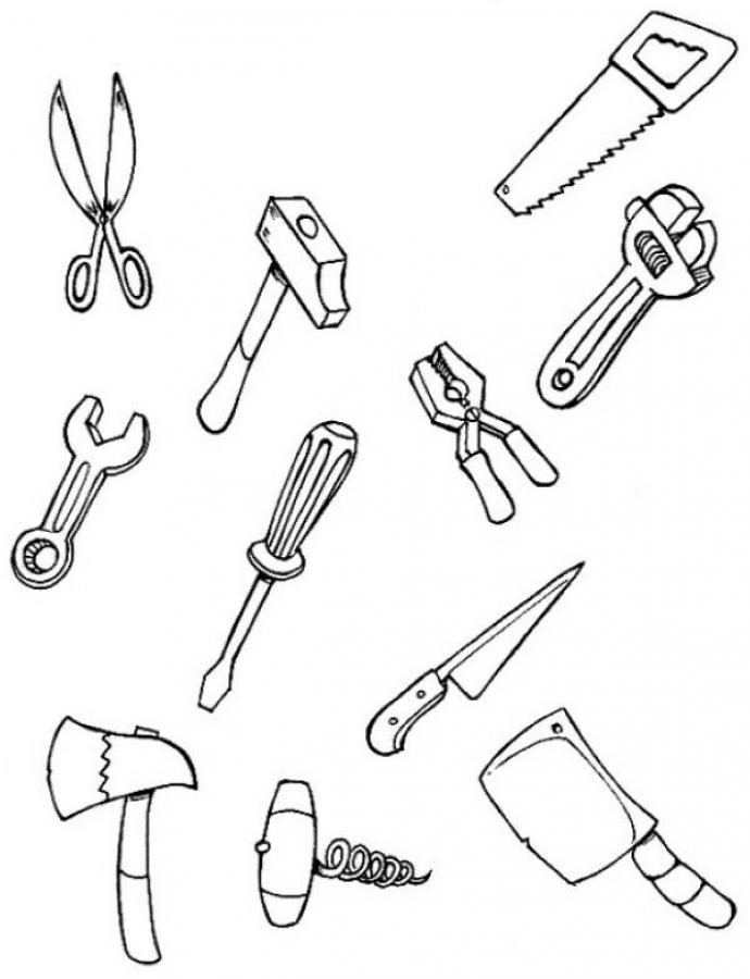 free printable coloring pages tools - photo#25