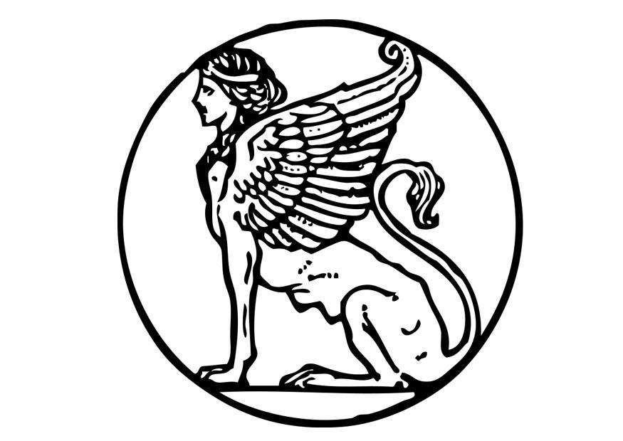 egyptian sphinx coloring pages - photo#29