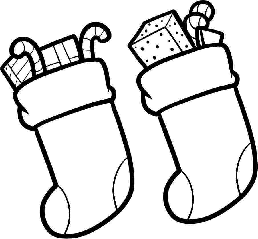 christmas stocking color page az coloring pages