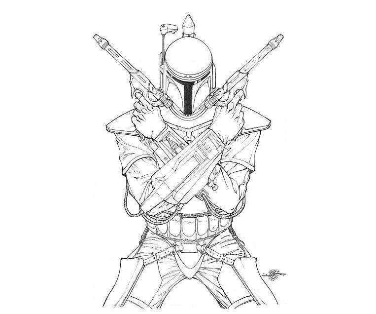 boba fett coloring page - star wars boba fett coloring pages coloring home