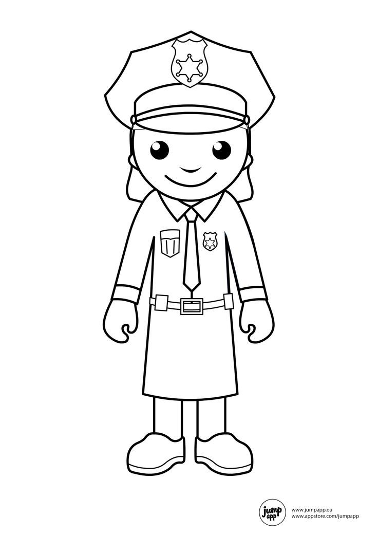 Police Officer Coloring Page - Coloring Home