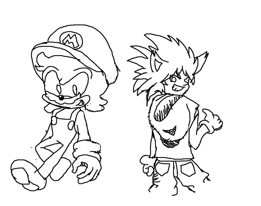 It is a photo of Massif Mario And Sonic Coloring Pages