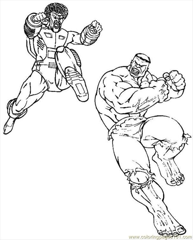 Free Hulk Cartoons Coloring Home
