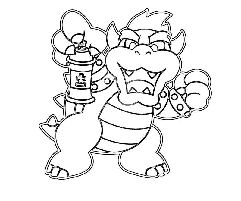 baby bowser coloring pages - photo #25