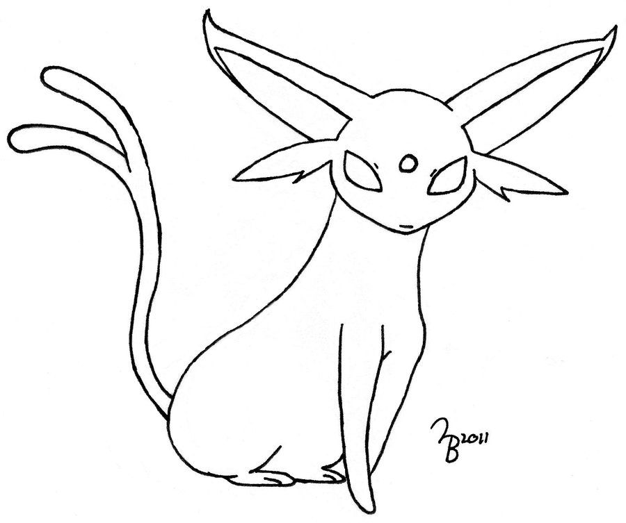 Pokemon Coloring Pages Espeon Images