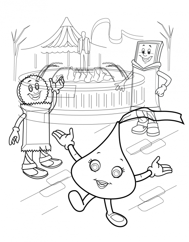 hershey coloring pages for kids - photo#3