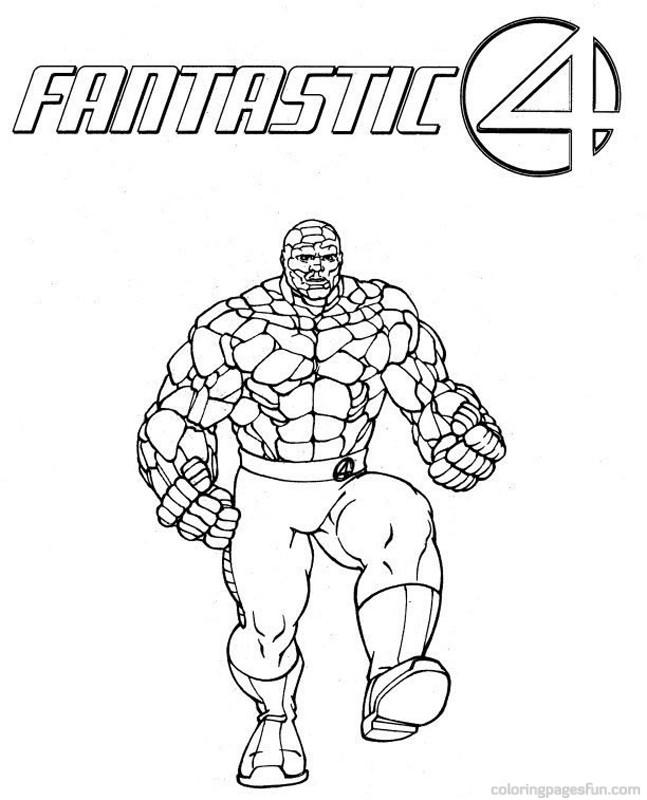 Fantastic 4 Coloring Pages Az Coloring Pages Fantastic Four Coloring Pages