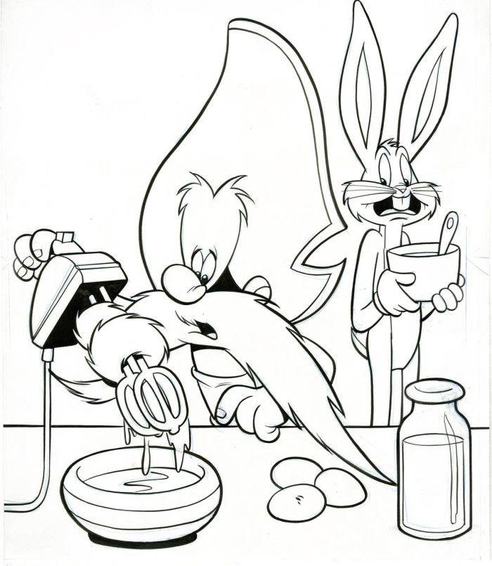 Activity Yosemite Sam Coloring Pages Looney Tunes Cartoon