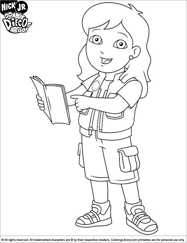 Diego Go Coloring Pages
