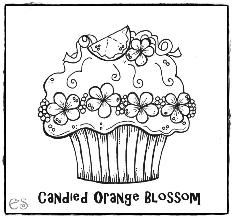 Cupcake coloring page az coloring pages for Cupcake color pages