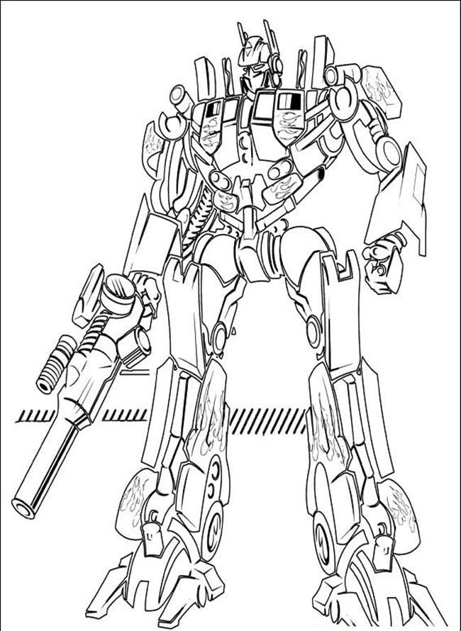 coloring pages optimus prime - photo#5