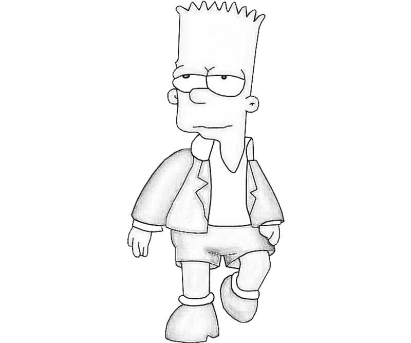 Bart Simpson Coloring Page The Simpsons Pages Quoteko Coloring Home