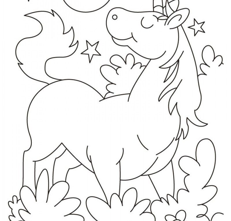 Cute Unicorn Sheets Coloring Pages