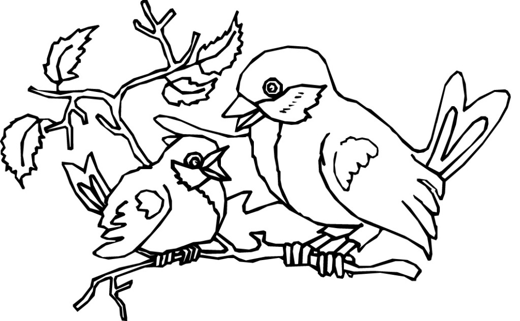 bird in nest coloring pages - photo#31