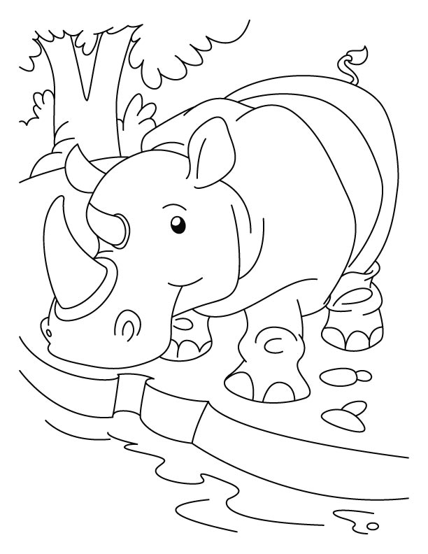 Rhino Coloring Pages Az Coloring Pages Rhino Coloring Page