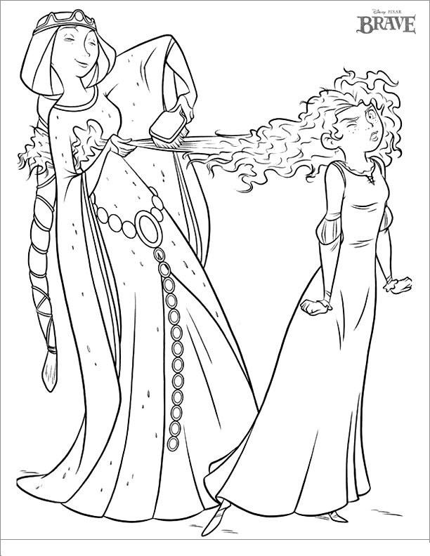Brave Coloring Pages Princess Merida Coloring Pages For Kids Coloring Home