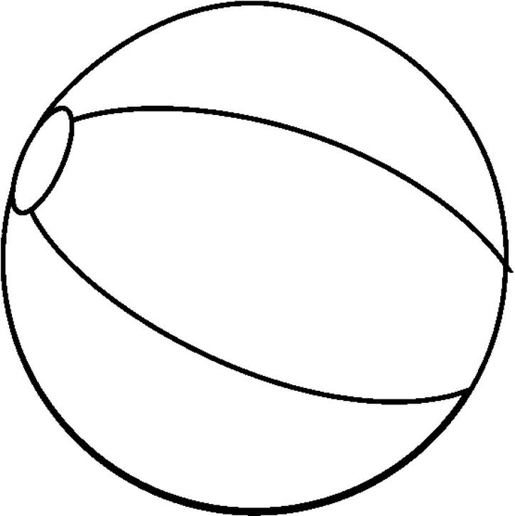 Free Coloring Pages Of Beach Ball Free Balls Coloring Pages