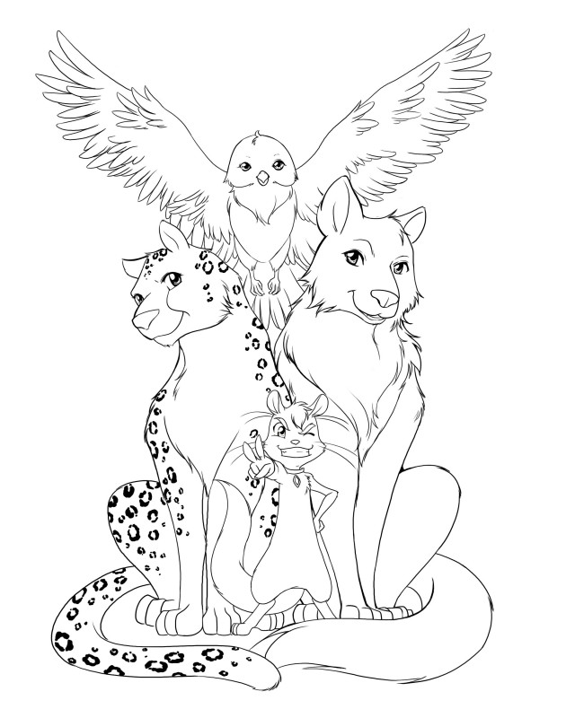 Print Awesome Animal Coloring Pages For Adults Download