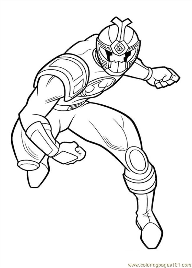 Coloring Pages Power Ranger Crouc (Cartoons > Power Rangers