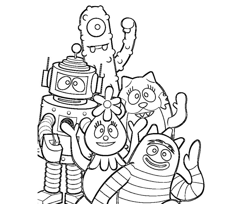 Best Coloring Page Yo Gabba Gabba | Free coloring pages