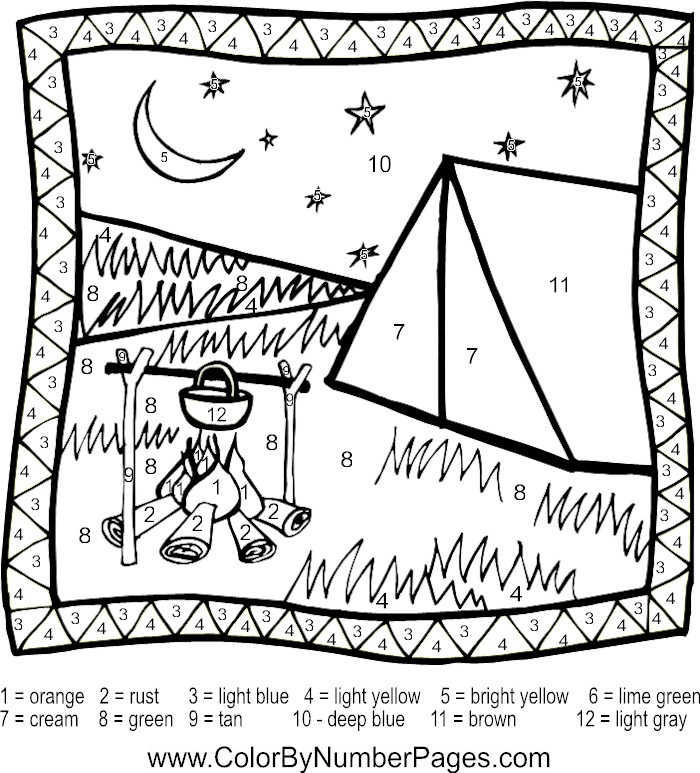 Camping color pages az coloring pages for Camp coloring pages