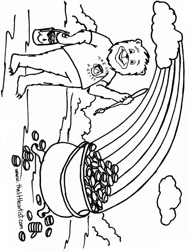 gold coloring pages - photo#7