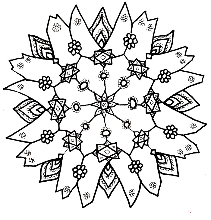 christmas snow flacks coloring pages - photo#2