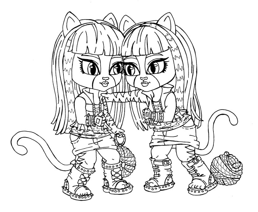 easy monster high coloring pages - photo#33