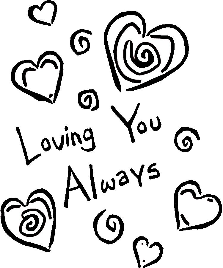 i am in love coloring pages - photo #19
