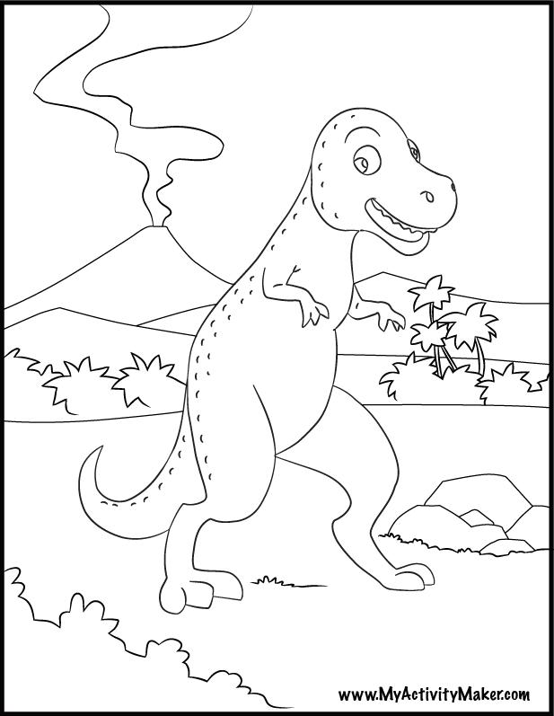 opinion album dinosaur coloring pages | T Rex Dinosaur Coloring Pages - Coloring Home