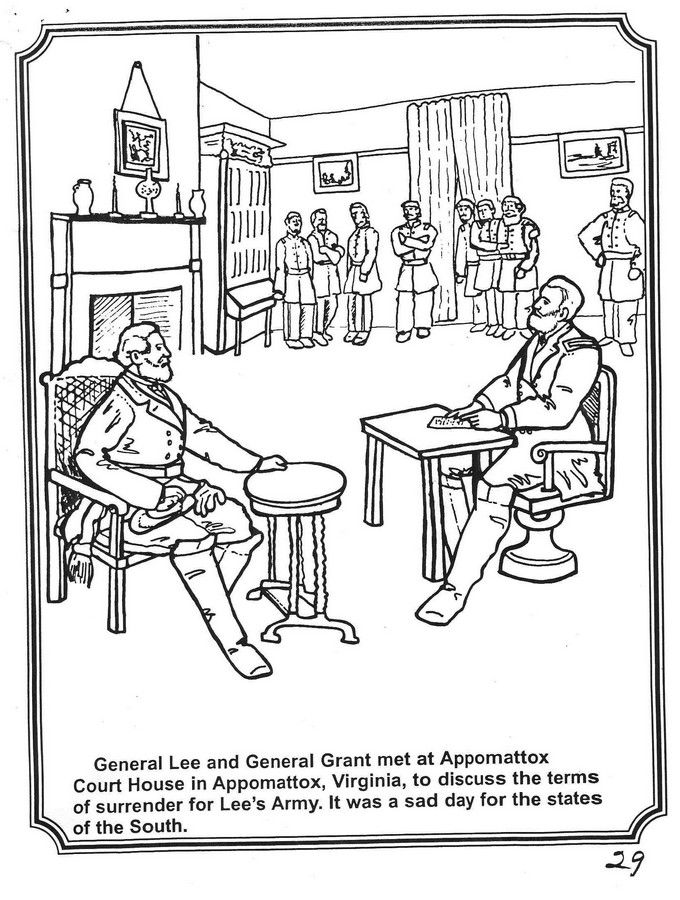 us reconstruction coloring pages - photo#5