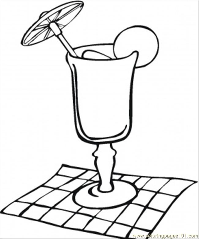 Glass Cup Coloring Page Lemonade Coloring Page...